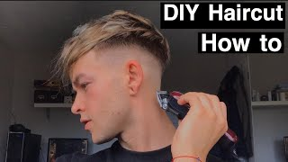 DIY Haircut at h๐me How to cut your own hair 2020 easy tutorial for beginners How to do a Skin Fade