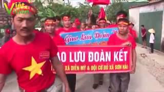 """""""Thủy triều đỏ"""" tràn về Sơn hải, Quỳnh Lưu, hình ảnh các đội Cờ đỏ hoành tráng chưa từng có"""
