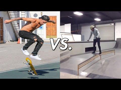 Justin Bieber Vs. Lil Wayne Skateboarding!