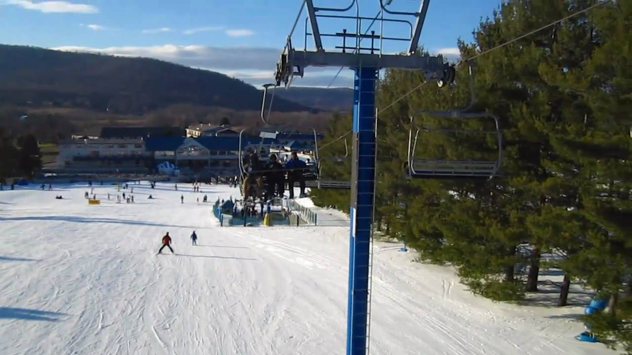 skiing in liberty mountain, pa - youtube