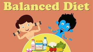 Balanced diet. proteins help in growth and repair of body. vitamins minerals protect our body from various diseases. dietary fibres to get rid un...