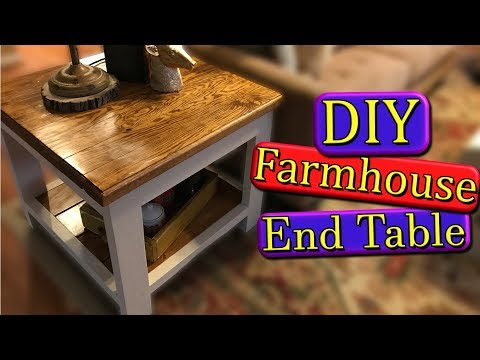 Farmhouse End Table (DIY)