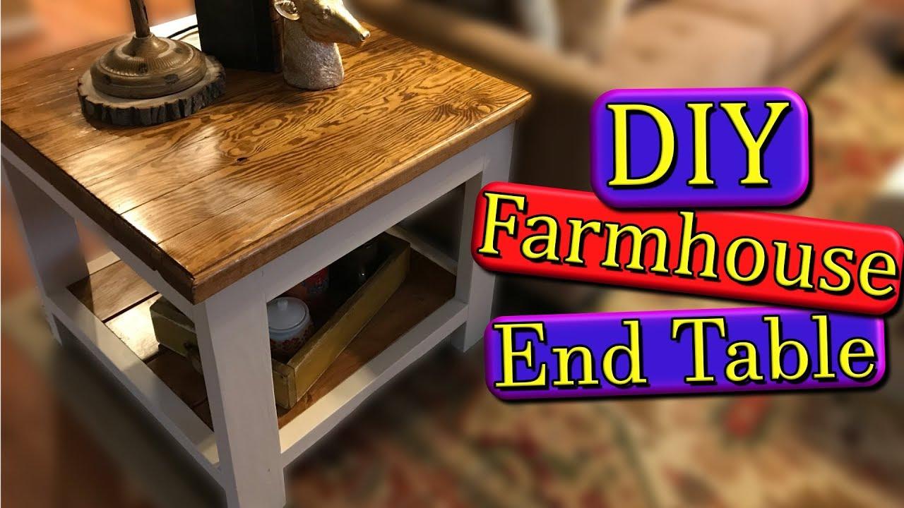 farmhouse end table diy with build plans