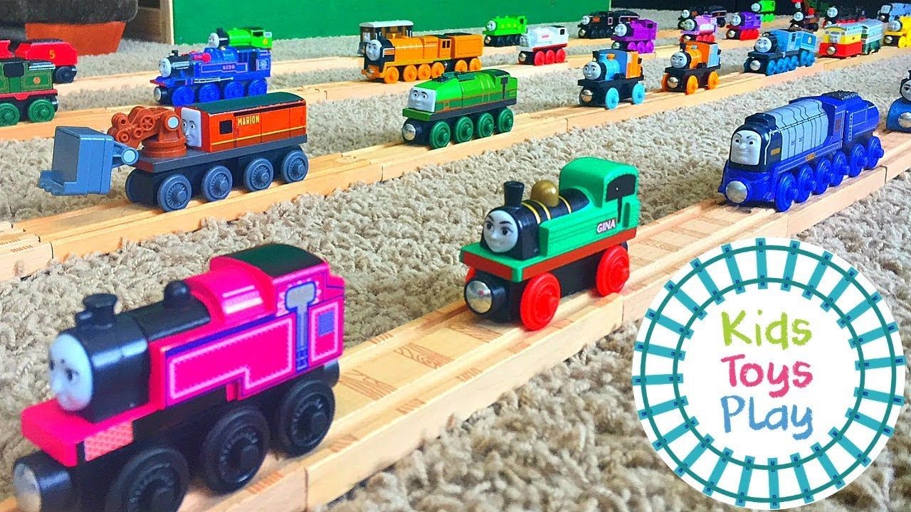 Thomas And Friends Wooden Railway Collection Part 1 Of 2 Huge Thomas Train Collection