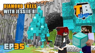 CUSTOM TREES with Jessiie B! | Truly Bedrock Season 2 [35] Minecraft Bedrock SMP