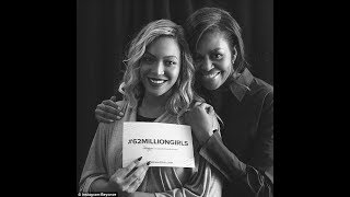 Former first lady Michelle Obama at Beyoncé