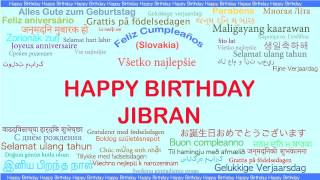 Jibran   Languages Idiomas - Happy Birthday