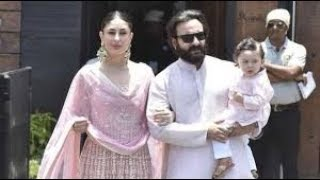 Saif Ali Khan, Kareena Kapoor And Taimur Ali K