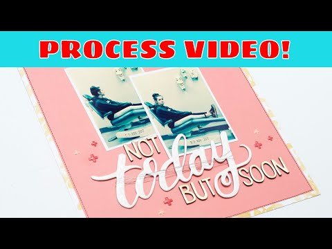 Scrapbooking Process: A Clean and Simple Page