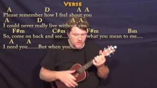 I Need You (Beatles) Ukulele Cover Lesson in A with Chords/Lyrics
