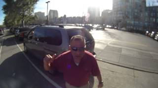 Driver cuts off cyclists and then goes full road rage (CA 4JHF273)