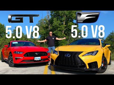 Lexus RCF vs Mustang GT: $70k Japanese Muscle And $35k American Muscle [Wheel2Wheel]