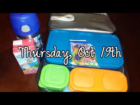 School Lunch #2   October 16th to 20th