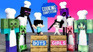 GIRLS VS BOYS COOKING CHALLENGE - MONSTER SCHOOL CHALLENGE