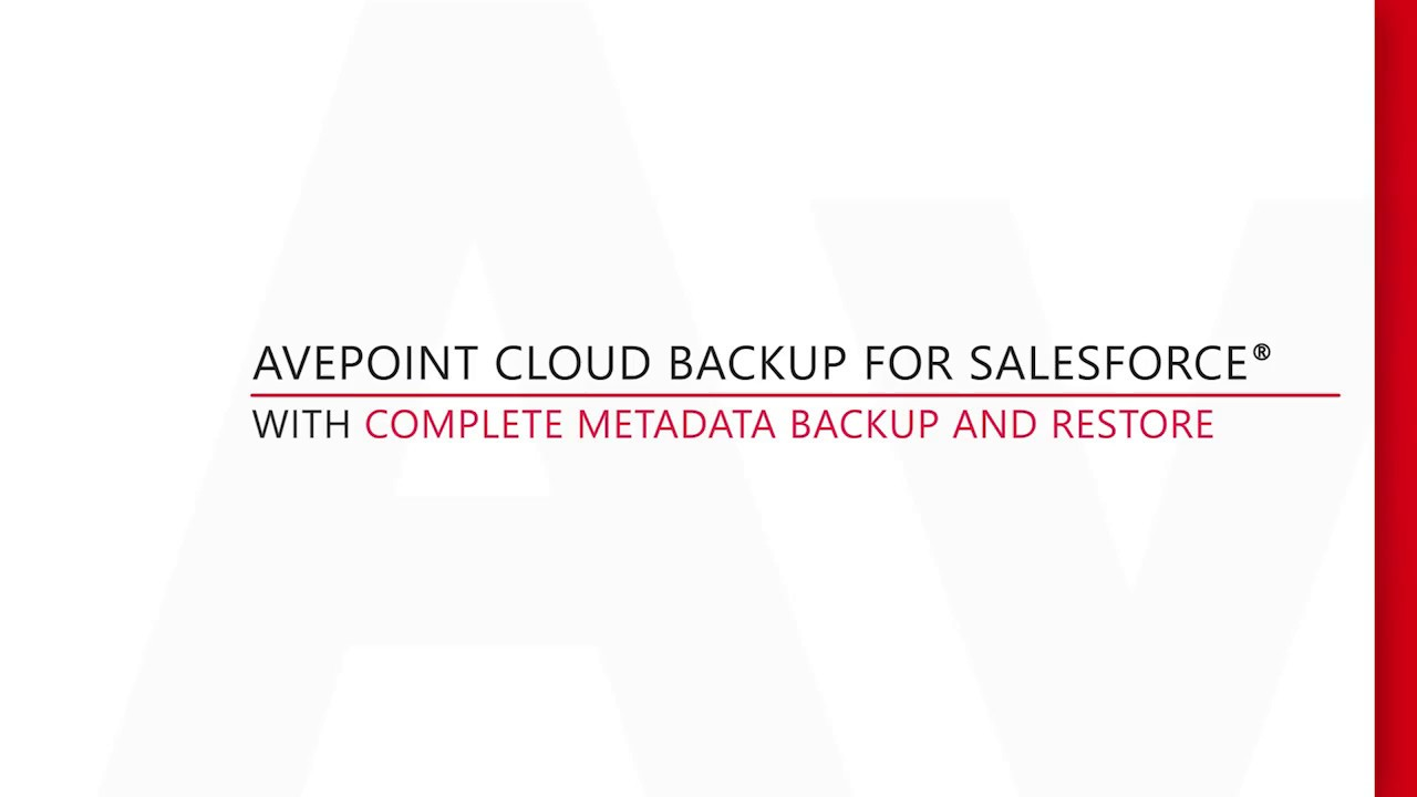 Demo: Backup and Restore Salesforce Metadata with DocAve