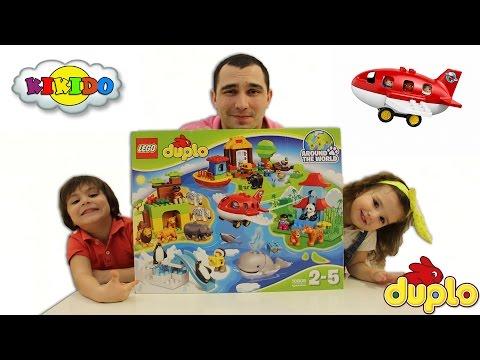 Лего Дупло Вокруг Света 10805. Видео для детей. Распаковка. Unboxing Lego Duplo Around The World.