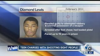 Teen charged with killing two, shooting 8