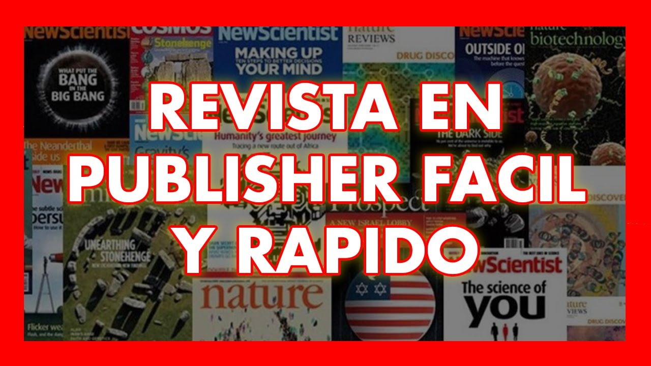 Como hacer una revista en microsoft publisher 2016 youtube for Como anotarse en procrear 2016