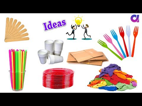 10 New Amazing reuse old waste items around you | Best out of waste | Artkala 348