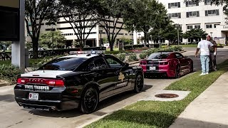 OFFICERS HAVE ZERO TOLERANCE FOR BURNOUTS! (So Many Tickets!) - Houston Coffee and Cars August 2018