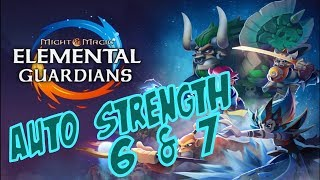 My Strength 6 & 7 Auto Team + Glyphs - Might and Magic Elemental Guardians