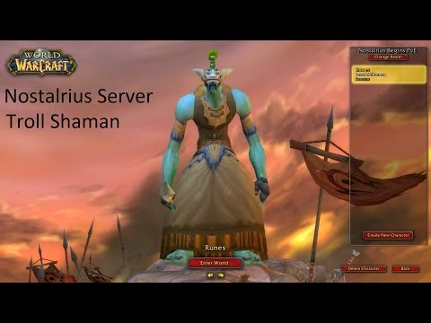 World of Warcraft (Nostalrius Emu Server) - Reggae Shaman