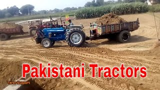 Solar Excavator Machine & Tractors Working in Rural Area Driving Skills & Tractor Stunt