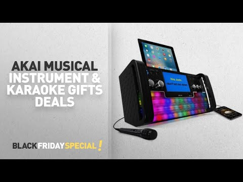 Walmart Top Black Friday Akai Musical Instrument & Karaoke Gifts Deals: Akai KS780-BT Bluetooth CD+G