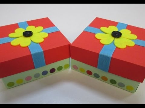 DIY : #55 Fun & Colorful Gift Box ♥