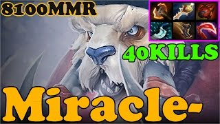 Dota 2 - Miracle- 8100 MMR Plays Tusk - Ranked Match Gameplay