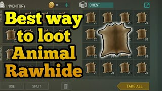 Best way to loot Animal RawHide   Last day on earth : Survival