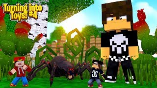Minecraft TOYS #4 -  TRAPPED IN THE GARDEN, A SPIDER EATS JACKS ARMS!!