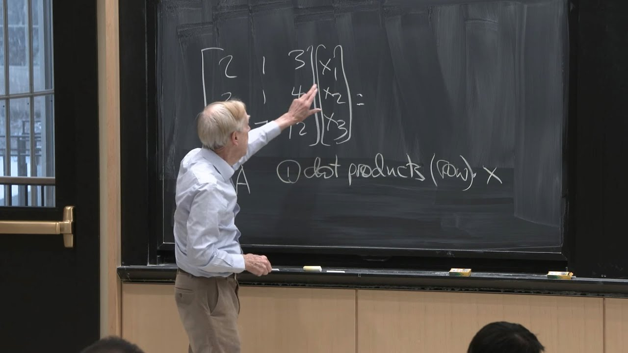 Lecture 1: The Column Space of A Contains All Vectors Ax | Video