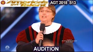 Audition Fails - SLEEP INDUCING  Poet and a Cat Person America's Got Talent 2018 Audition AGT