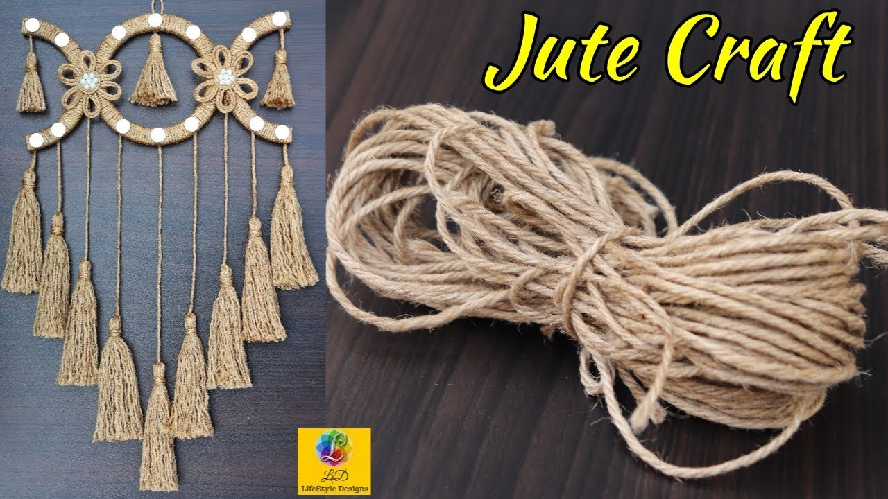 Diy Wall Hanging With Jute Rope Wall Decor Showpiece