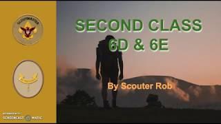 BSA SECOND CLASS RANK REQUIREMENT 6D and 6E