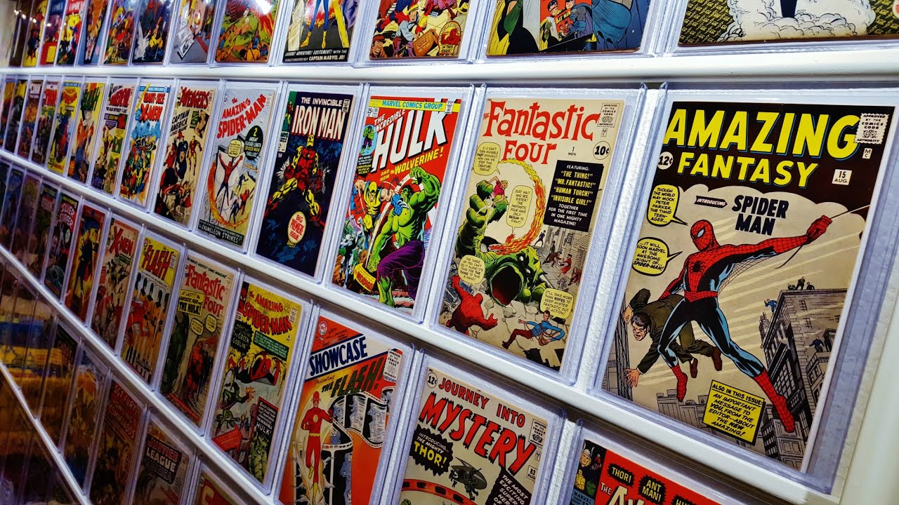 my new comic book wall display update youtube. Black Bedroom Furniture Sets. Home Design Ideas