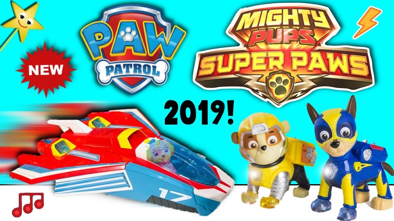 Paw Patrol New 2019 Toys Super Sonic Jet Mighty Pups