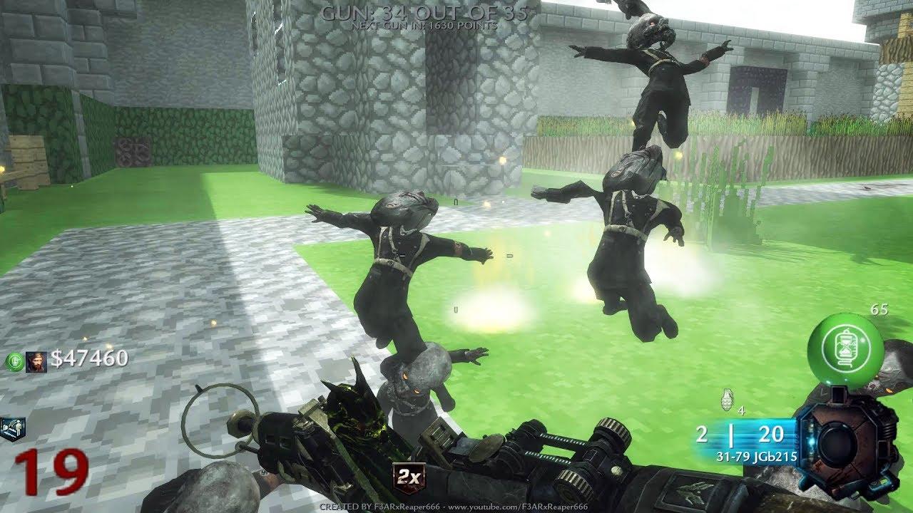 CoD WaW: Custom Zombie Map Minecraft Village Remastered (Gun Game) SOLO  part 4 (END) (PC) ᴴᴰ