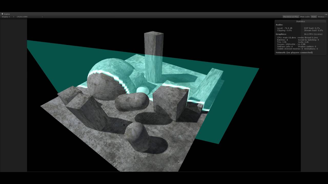 Unity optimized mobile depth intersect shader opengles2 0 by colin leung