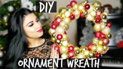 DOLLAR TREE DIY: Ornament Wreath (ONLY $8!)