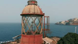 Cape lighthouse. Freetown, Sierra Leone, West Africa.