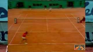 Bjorn Borg wins the 1975 French Open vs Guillermo Vilas
