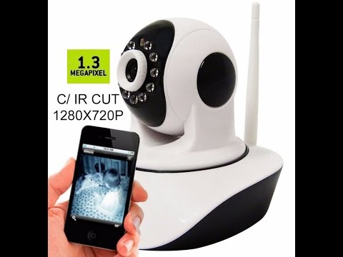 50656a00d8bc1 Câmera IP HD Áudio Angulo 360º Ircut 10m Noturna WiFi - YouTube