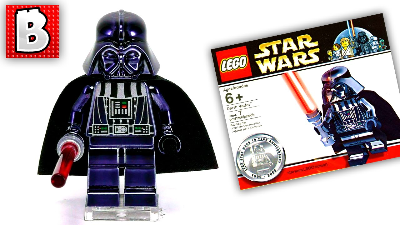 Opening Brand New Lego Chrome Darth Vader Minifigure      Super Rare     YouTube Premium