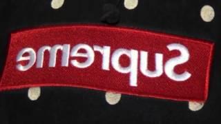 Supreme x CDG box logo hoodie. Fake vs authentic comparison