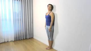 Йога у стены- растяжка для мышц спины, рук и ног