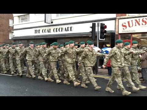 40 Commando Royal Marines Parade at Taunton 17th November 2010