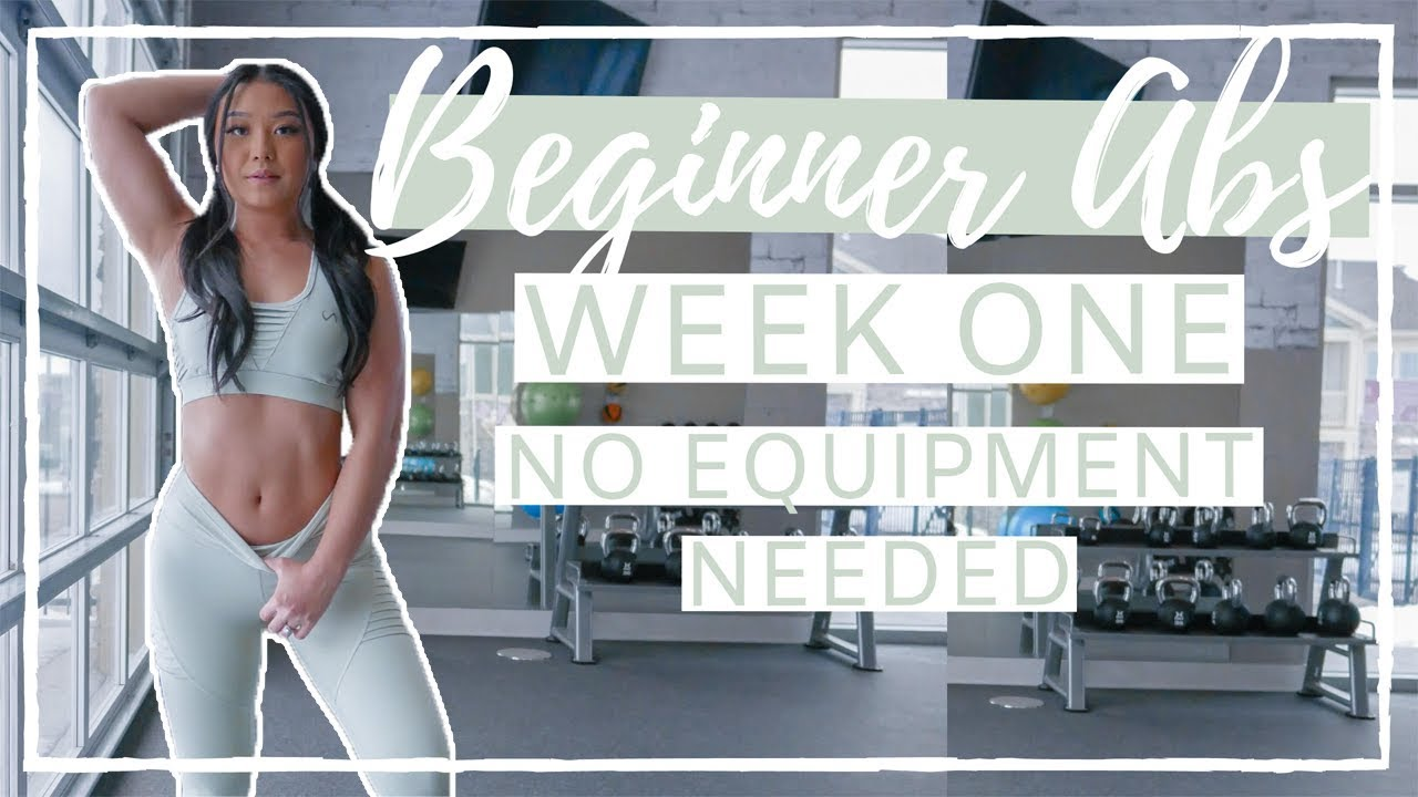FREE WORKOUT GUIDE | Beginner Abs Follow Along With Me