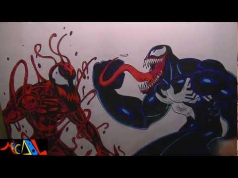 Dibujando a: Venom Vs Carnage
